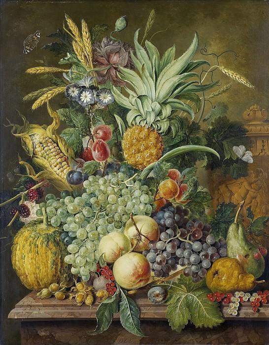 Linthorst, Jacobus -- Stilleven met vruchten, 1808. Rijksmuseum: part 2