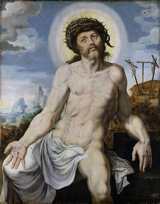 Мартен ван Хемскерк -- Христос как муж многих скорбей, 1545-50. Рейксмузеум: часть 2