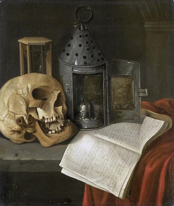 Б.Схаак -- Натюрморт на тему мирской тщеты, 1675-1700. Рейксмузеум: часть 2