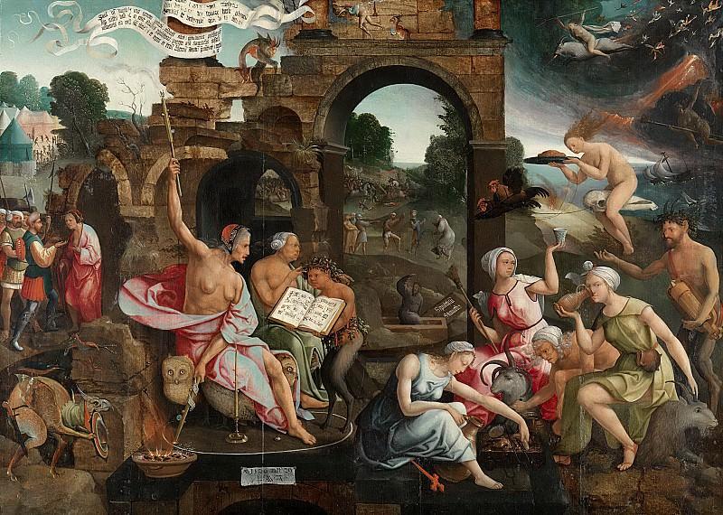 Якоб Корнелис ван Остзанен -- Саул рядом с ведьмами Аэндорской волшебницы, 1526. Рейксмузеум: часть 2