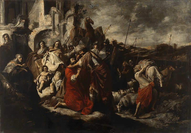 Якоб Хогерс -- Встреча Иакова с Исавом, 1655. Рейксмузеум: часть 2