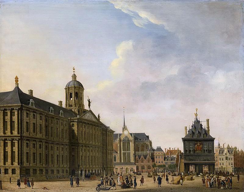 Ян Экельс (I) -- Площадь Дамбы в Амстердаме, 1750-1781. Рейксмузеум: часть 2