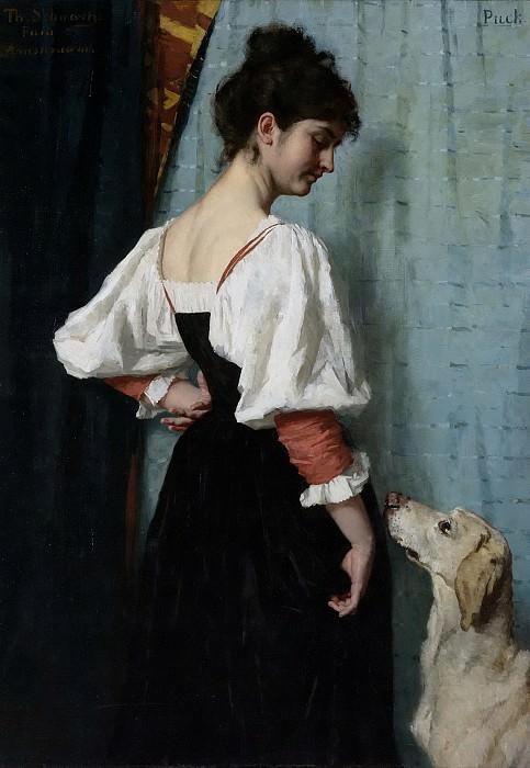 Тереза Швартце -- Молодая итальянка с собакой по кличке «Шайба», 1879-1885. Рейксмузеум: часть 2