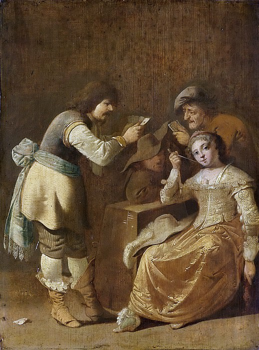 Quast, Pieter Jansz. -- Kaartspelers met een pijprokende vrouw, 1630-1647. Rijksmuseum: part 2