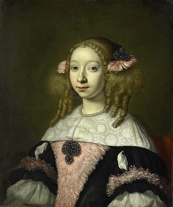 Helst, Lodewijk van der -- Adriana Jacobusdr Hinlopen (geb 1646). Echtgenote van Johannes Wijbrants, 1667. Rijksmuseum: part 2