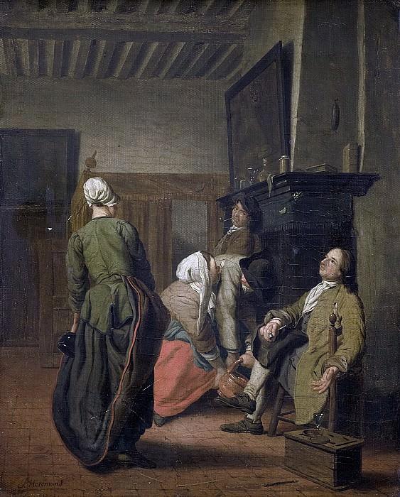 Ян Йозеф Хореманс (II) -- Весёлая компания, 1740-1760. Рейксмузеум: часть 2