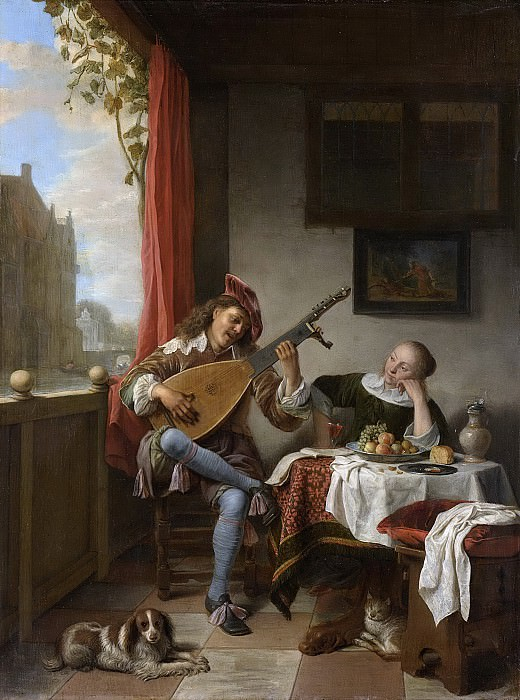 Sorgh, Hendrick Martensz. -- De luitspeler, 1661. Rijksmuseum: part 2