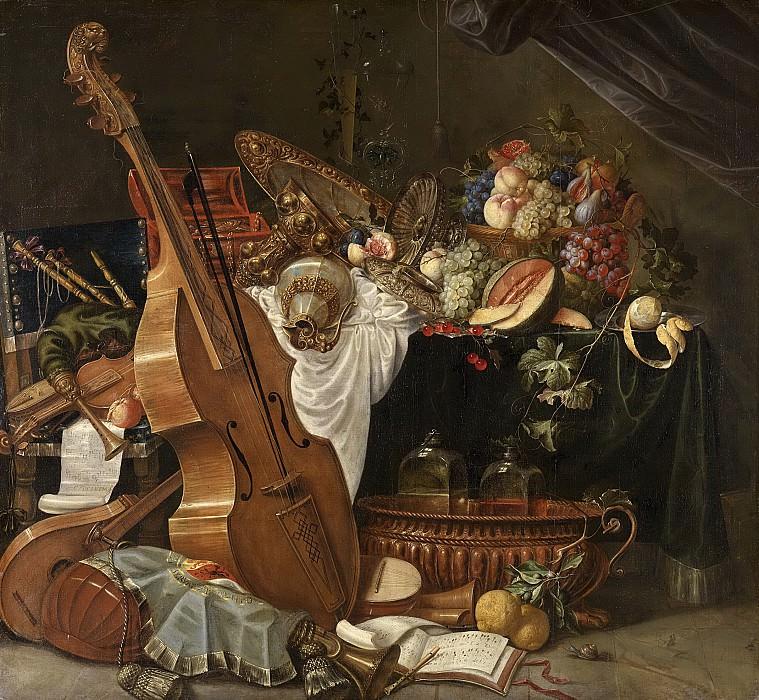 Йоханн Фридрих Грубер -- Натюрморт, 1662-1681. Рейксмузеум: часть 2