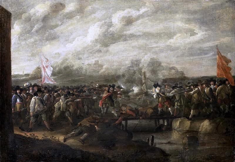 Николас ван Эйк (I) -- Сражение пехотинцев у моста, 1627-1679. Рейксмузеум: часть 2
