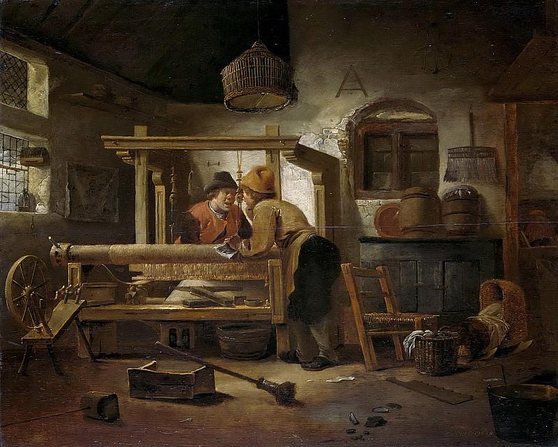 Decker, Cornelis Gerritsz -- Weverswerkplaats, 1659. Rijksmuseum: part 2