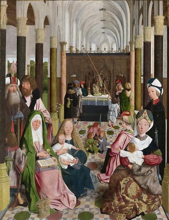 Geertgen tot Sint Jans -- De heilige maagschap, 1495. Rijksmuseum: part 2