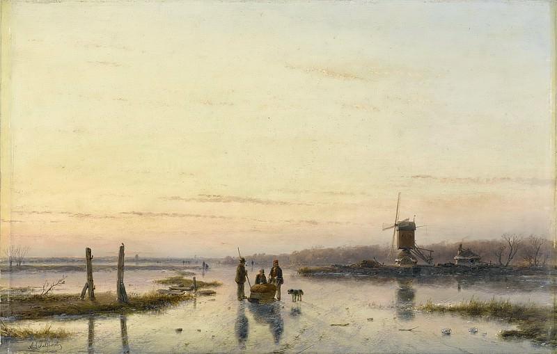 Schelfhout, Andreas -- IJsgezicht met molen, 1860-1862. Rijksmuseum: part 2