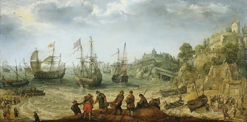 Willaerts, Adam -- Schepen bij een rotsachtige kust, 1621. Rijksmuseum: part 2