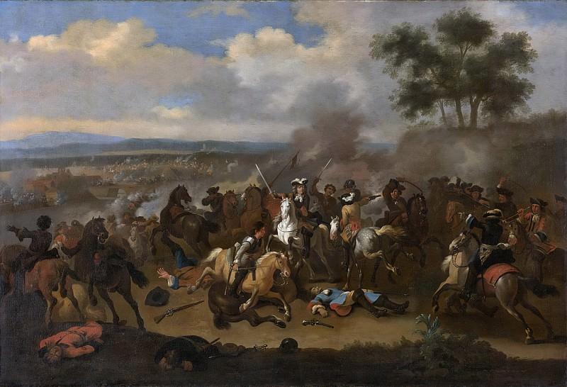 Ян ван Хухтенбург -- Сражение у Бойне (Ирландия) между Яковом II и Вильгельмом III 12 июля 1690 г., 1690-1733. Рейксмузеум: часть 2