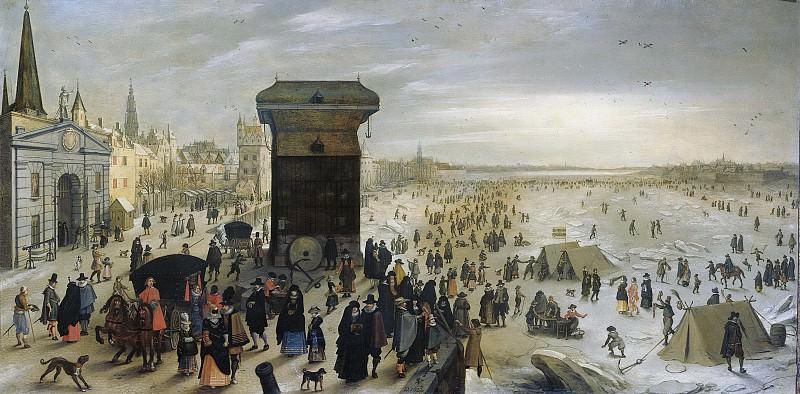Vrancx, Sebastiaan -- Het Kranenhoofd aan de Schelde te Antwerpen, 1622. Rijksmuseum: part 2