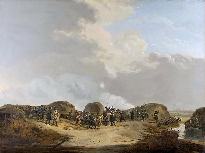 Os, Pieter Gerardus van -- De halve maan voor Naarden bij het beleg, april 1814, 1814-1815. Rijksmuseum: part 2