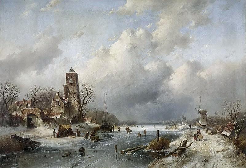 Leickert, Charles -- Wintergezicht, 1867. Rijksmuseum: part 2