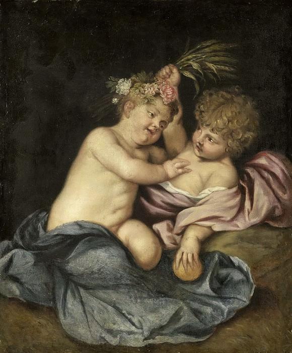 Неизвестный художник -- Два играющих ребенка, 1600-1649. Рейксмузеум: часть 2