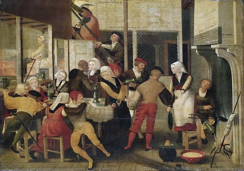 Монограммист из квартала Брюнс -- Компания в борделе, 1525-1550. Рейксмузеум: часть 2
