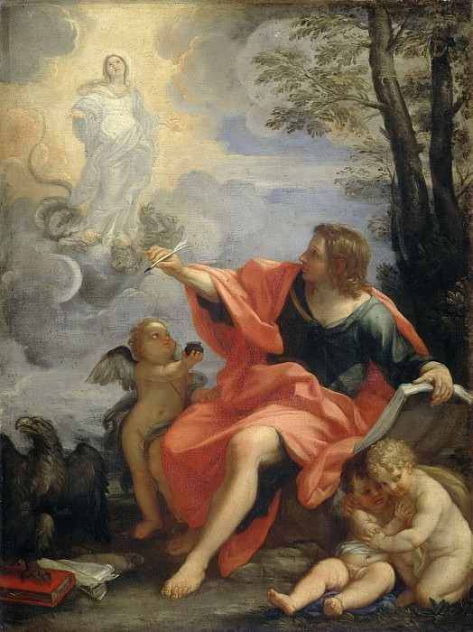 Карло Маратти -- Евангелист Иоанн на Патмосе, 1680-1720. Рейксмузеум: часть 2
