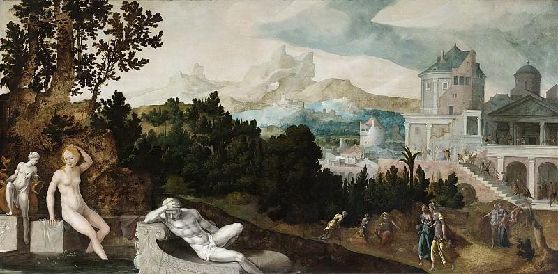 Scorel, Jan van -- Landschap met Bathseba, 1540-1545. Rijksmuseum: part 2