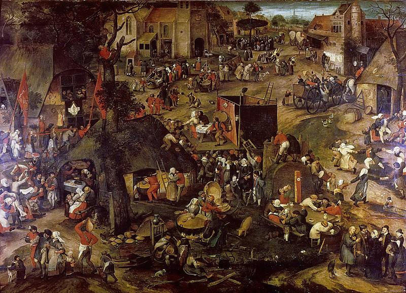 Balten, Pieter -- Een opvoering van de klucht 'Een cluyte van Plaeyerwater' op een Vlaamse kermis., 1540-1598. Rijksmuseum: part 2