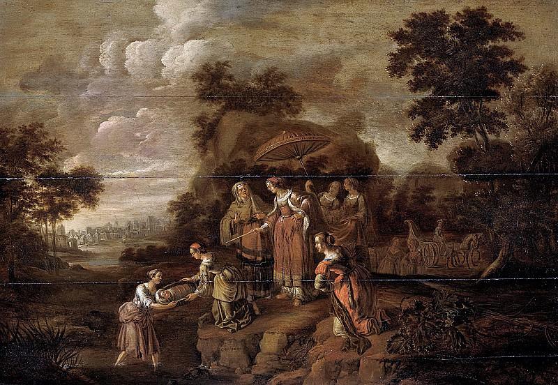 Gardijn, Guilliam du -- Farao's dochter vindt Mozes in het biezen mandje, 1615-1630. Rijksmuseum: part 2