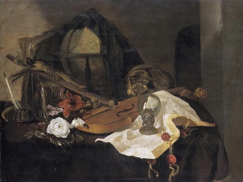 Claeuw, Jacques de -- Vanitas stilleven, 1650. Rijksmuseum: part 2