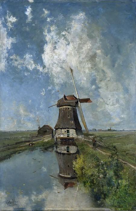 Пауль Йозеф Константин Габриель -- Мельница в июле на канале в польдере, 1889. Рейксмузеум: часть 2