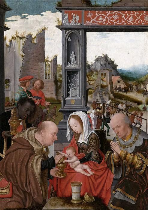 Mostaert, Jan Jansz -- De aanbidding der koningen, 1520-1525. Rijksmuseum: part 2