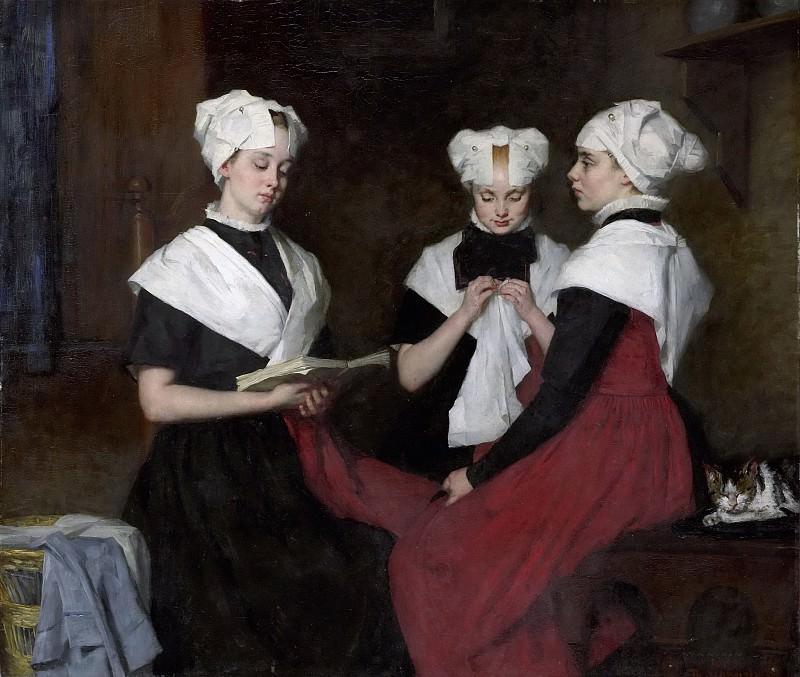 Schwartze, Thérèse -- Drie meisjes uit het Amsterdamse Burgerweeshuis, 1885. Rijksmuseum: part 2