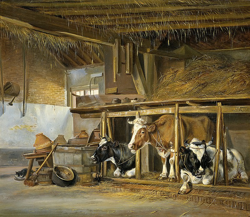 Ravenswaay, Jan van -- Koeien op stal, 1820. Rijksmuseum: part 2