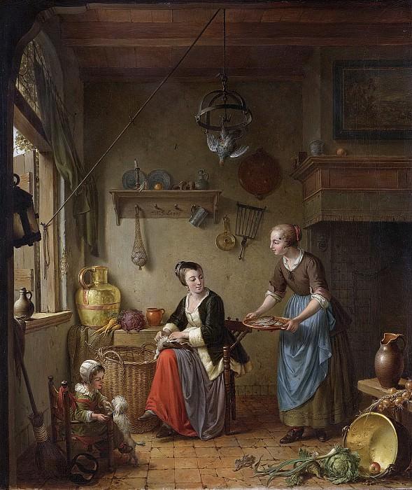 Виллем Йозеф Лаки -- Кухня, 1760-1771. Рейксмузеум: часть 2