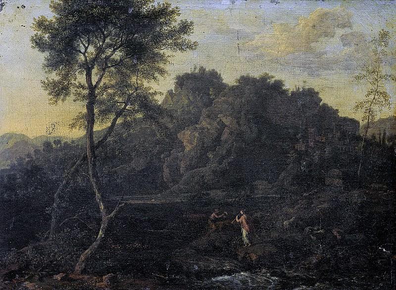 Genoels, Abraham -- Landschap met Apollo en Kalliope, 1670-1723. Rijksmuseum: part 2