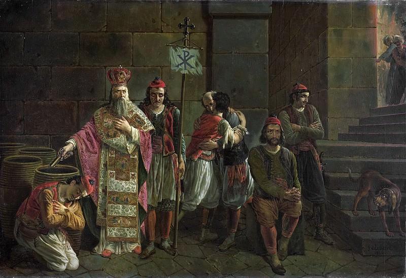 Odevaere, Joseph Denis -- De laatste verdedigers van Missolonghi, 22 april 1826, episode uit de Griekse vrijheidsoorlog, 1826. Rijksmuseum: part 2
