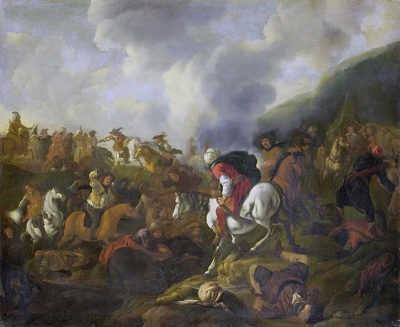 Жак Мюллер -- Кавалерийская схватка между отрядом турок и отрядом австрийского императора, 1645-1673. Рейксмузеум: часть 2