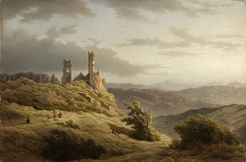 Hanedoes, Louwrens -- Berglandschap met ruïne, 1849. Rijksmuseum: part 2