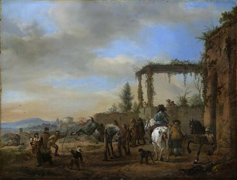 Wouwerman, Philips -- De rijschool, 1650-1668. Rijksmuseum: part 2