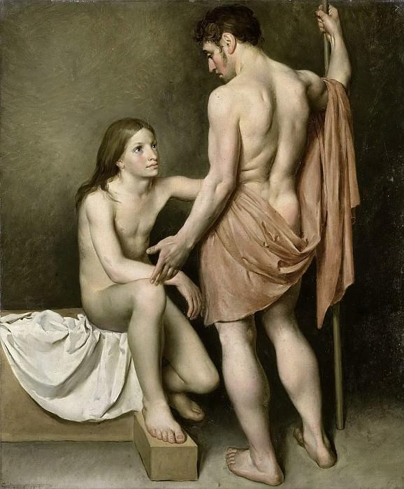 Mol, Woutherus -- Academiestudie van een man en een vrouw, 1808. Rijksmuseum: part 2