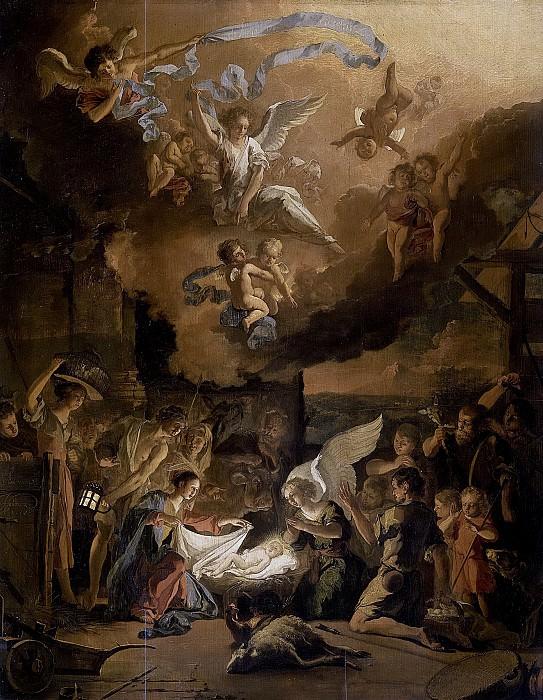 Hondius, Abraham Daniëlsz. -- De aanbidding der herders, 1663. Rijksmuseum: part 2