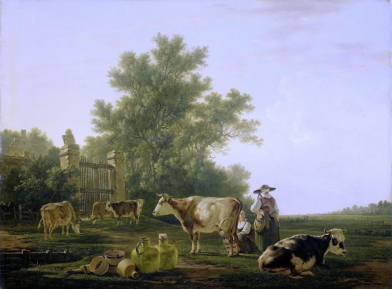 Якоб ван Стрей -- Дойка коров, 1800-1815. Рейксмузеум: часть 2