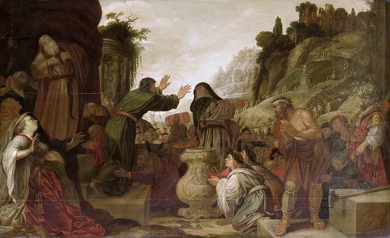 Якоб Симонс Пейнас -- Павел и Варнава в Листре благодаря народу как божьей милости, 1628. Рейксмузеум: часть 2
