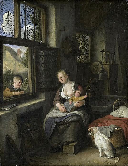 Dusart, Cornelis -- Een moeder met haar kinderen, 1690. Rijksmuseum: part 2