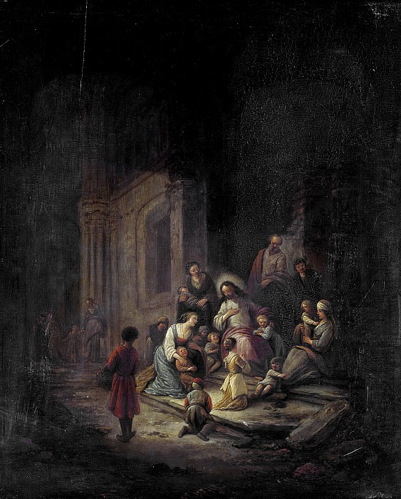 Якоб де Вет (I) -- Христос, благословляющий детей, 1640-1672. Рейксмузеум: часть 2