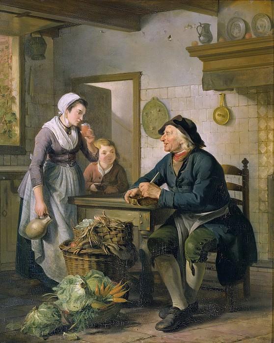 Лели, Адриан де -- Утренний гость, 1796. Рейксмузеум: часть 2
