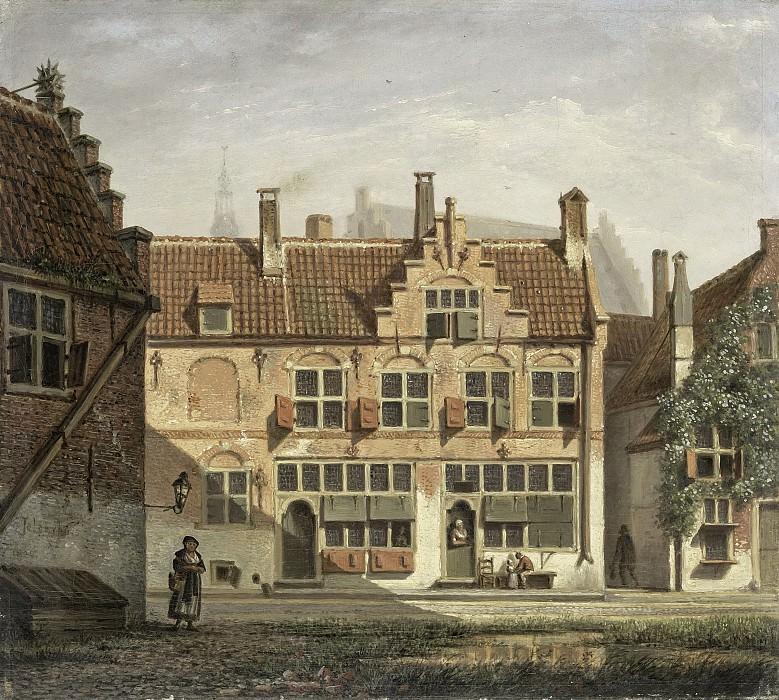 Йоханнес Йельгерейс -- Улица в Амерсфорте, 1826. Рейксмузеум: часть 2