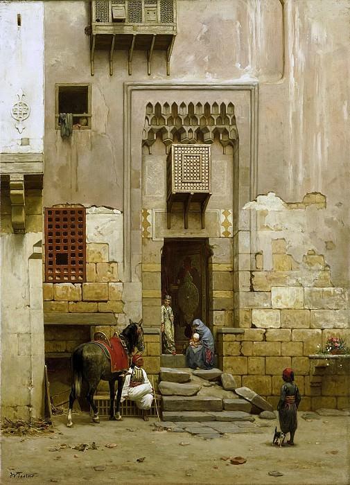Famars Testas, Willem de -- Binnenplaats van een huis te Caïro, 1868-1881. Rijksmuseum: part 2