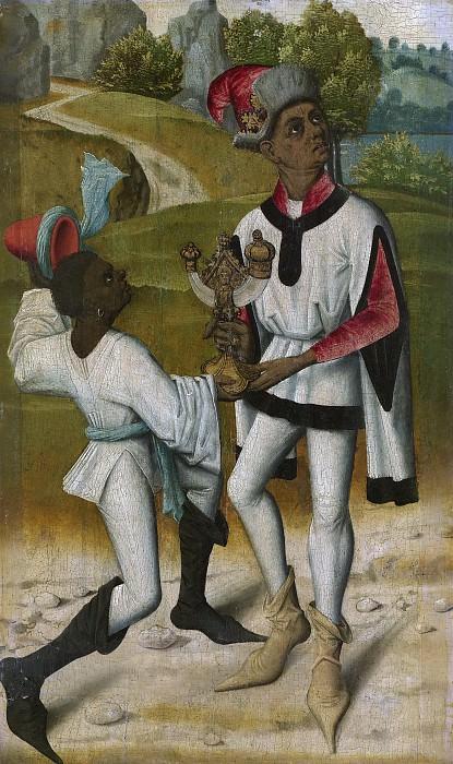 Unknown artist -- Balthasar, één van de drie koningen, met een bediende, 1480-1490. Rijksmuseum: part 2