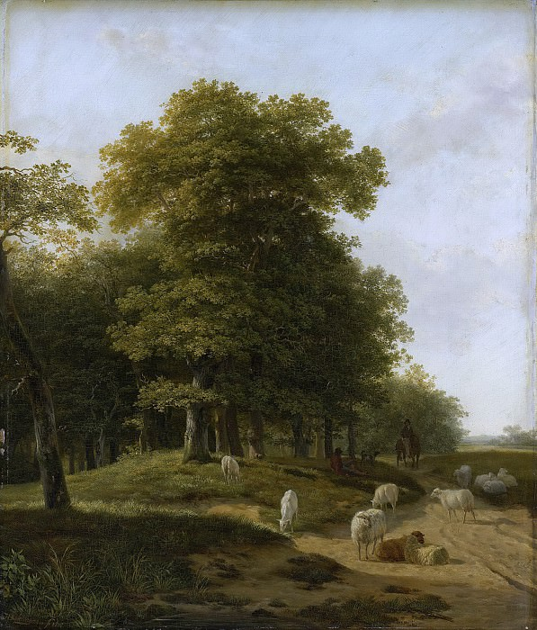 Хендрик ван де Санде Бахейзен -- Пейзаж в провинции Гельдерланд, 1818. Рейксмузеум: часть 2