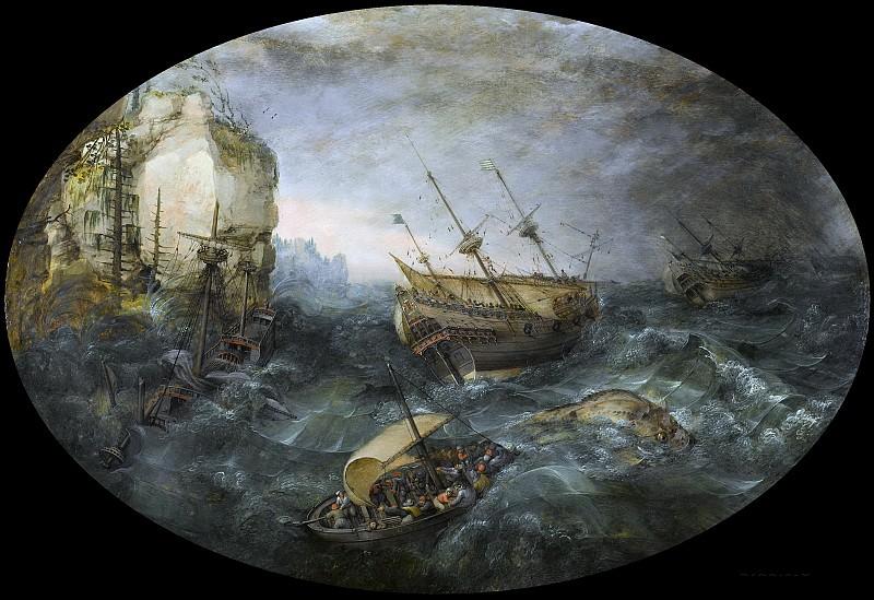 Willaerts, Adam -- Schipbreuk op een rotsachtige kust, 1614. Rijksmuseum: part 2